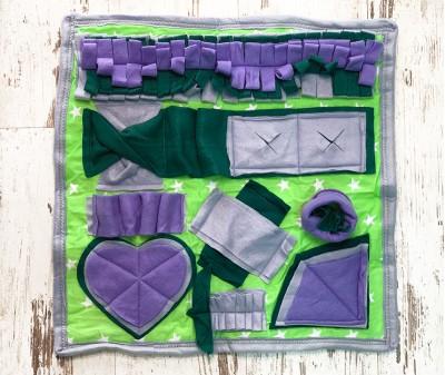 Нюхательный коврик сиренево-зелен, мод 1 | 50*50 см