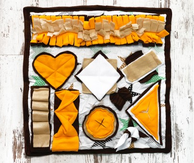 Нюхательный коврик  коричнево-желтый , мод 2 |  50*50 см