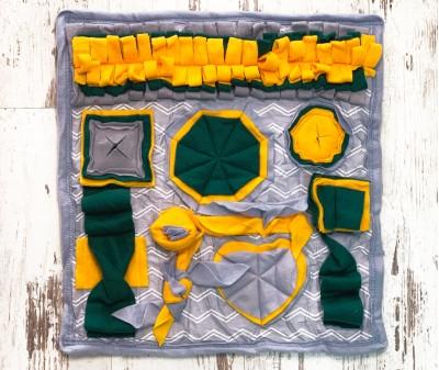 Нюхательный коврик серо-желтый | 50*50 см