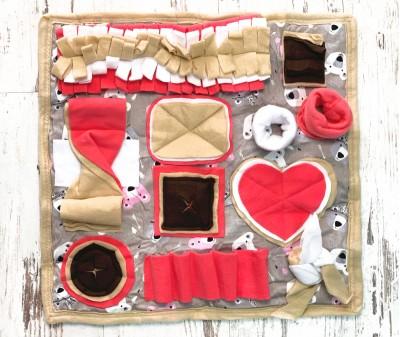 Нюхательный коврик розовый. мод 4 | 50*50 см