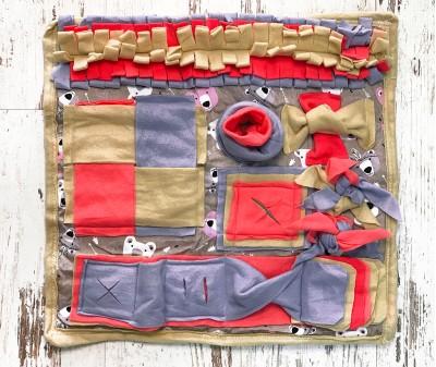 Нюхательный коврик  розовый, мод 3 | 50*50 см