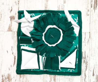 Нюхательный коврик MINIK,  зеленый | 38*38 см