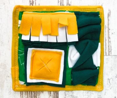 Нюхательный коврик MINIK желтый | 25*23 см