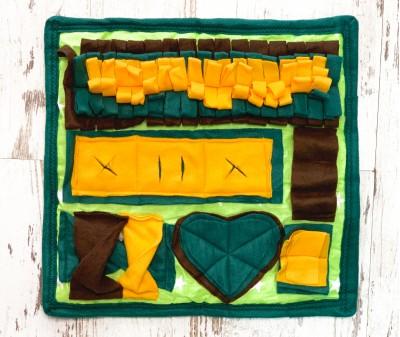 Нюхательный коврик зелено-желт | 40*40 см