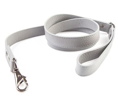 Поводок для собаки кожаный V823  Серый  | XS, L