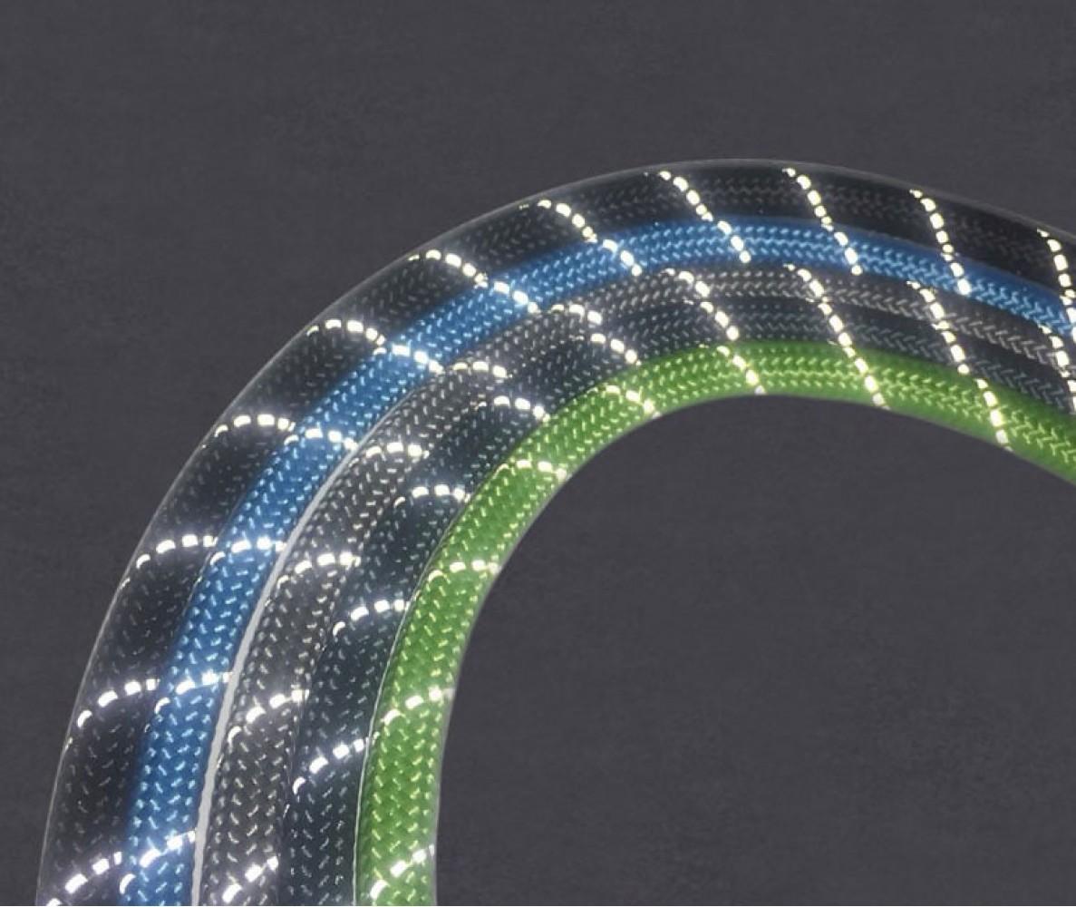 Поводок из шнура светоотражающий, синий 10 мм, длина 1,2 м