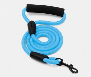 Поводок нейлоновый, голубой 10 мм, ...