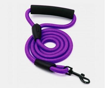Поводок нейлоновый, фиолетовый 10 м...