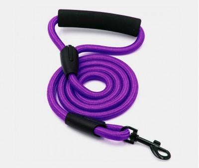 Поводок нейлоновый, фиолетовый 10 мм, длина 1,2 м