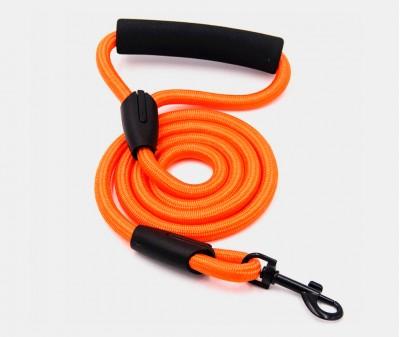 Поводок нейлоновый, оранжевый 10 мм, длина 1,2 м