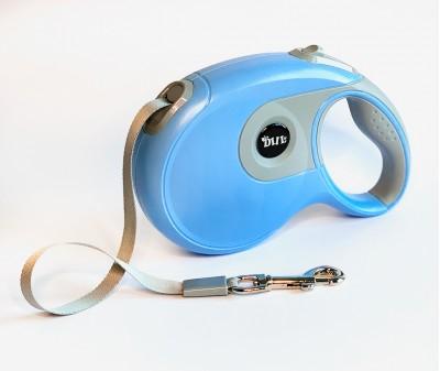 Поводок рулетка XL, для собак от 30-80 кг, лента, 8 метров, голубая