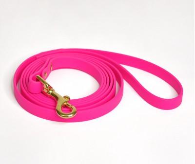 Поводок из биотана, розовый - 12 мм * 3 м