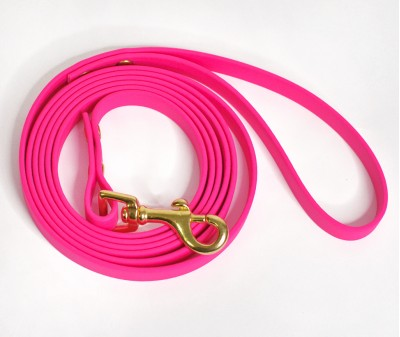 Поводок из биотана, розовый - 12 мм * 1,9 м