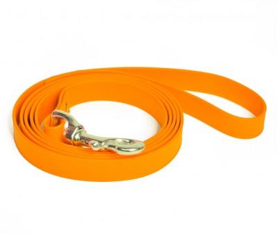 """Поводок из биотана """"Juno"""", светло-оранжевый - 19 мм * 3 м"""