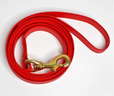 Поводок из биотана, красный - 19 мм * 1,9 м