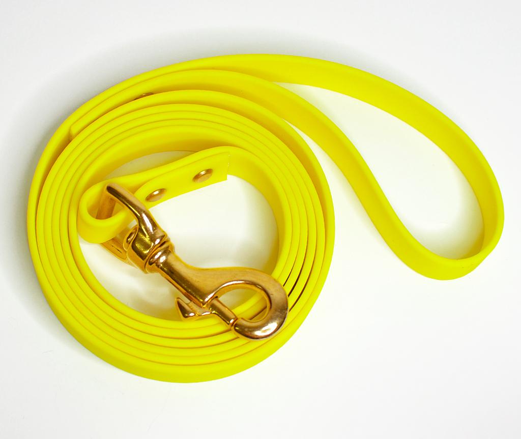 Поводок из биотана, водостойкий, желтый - 19 мм * 1,9 м