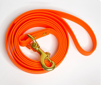 Поводок из биотана, оранжевый - 19 мм * 1,9 м