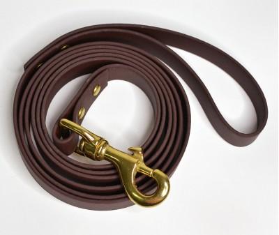 Поводок из биотана, коричневый - 19 мм * 1,9 м