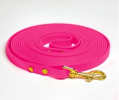 Поводок из биотана, розовый - 12 мм * 5 м
