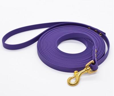"""Поводок из биотана """"Juno"""", фиолетовый/золото - 12 мм * 5 м"""