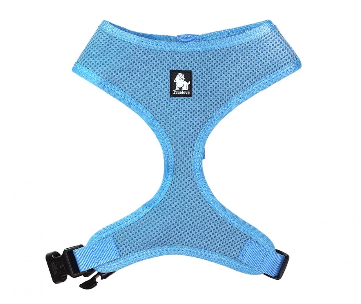 "Шлейка для собак ""Голубая"" , мягкая - размеры S-XL"