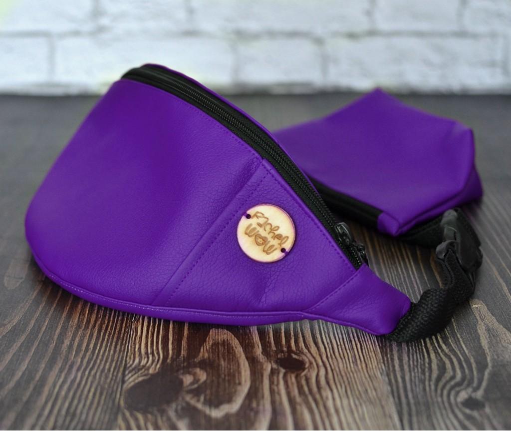 Сумка на пояс BANANA-DOG для прогулок | фиолетовая