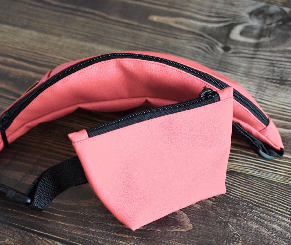 Сумка на пояс BANANA-DOG для прогулок | розовая
