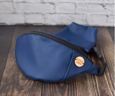 Сумка на пояс BANANA-DOG для прогулок | синяя