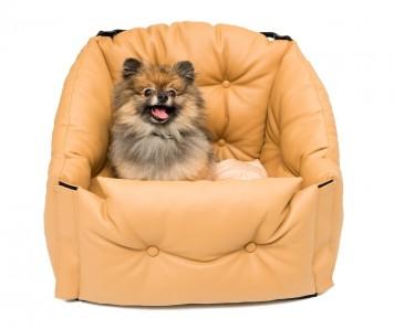 Автокресло для перевозки собак  | бежевое |  50*50*50 см