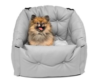 Автокресло для перевозки собак   | серое |  50*50*50 см