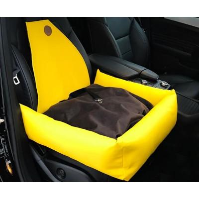 Автокресло для собак | желтое |  50 x 50 см